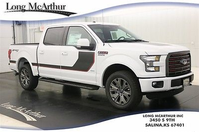2016 Ford F-150 LARIAT 4X4 SUPERCREW NAV SUNROOF MSRP $57046 4WD 4 DOOR NAVIGATION MOONROOF LEATHER  REMOTE START REAR VIEW CAMERA
