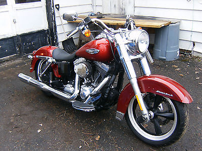 2012 Harley-Davidson Dyna  harley dyna switchback touring 103 6 speed low no reserve buy now red fld cheap