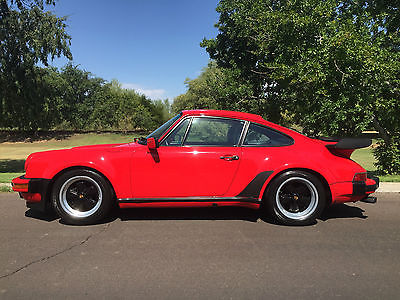 1986 Porsche 911 Turbo Carrera Coupe 2-Door 1986 Porsche 930 Turbo Carrera Coupe US CAR ENGINE OUT, CLUTCH, RESEAL JUST DONE