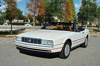 1987 Cadillac Allante Convertible 2-Tops 80K Miles Super Clean! 1987 Cadillac Allante Convertible 2-Tops 80,872 Miles Clean CarFax Report