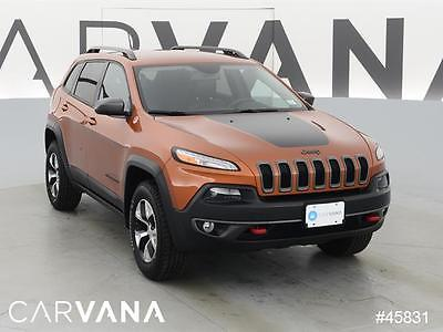 2015 Jeep Cherokee Cherokee Trailhawk Orange 2015 Cherokee with 15179 Miles for sale at Carvana
