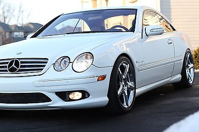 2005 Mercedes-Benz CL-Class 2005 Mercedes CL55 AMG (White/Tan)