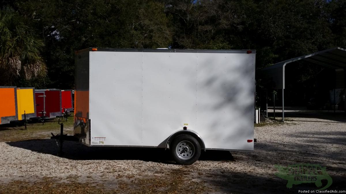 Enclosed Cargo 6x12 Wht Ext NEW for SALE!