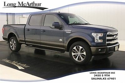 2017 Ford F-150 KING RANCH 4X4 SUPERCREW VOICE-NAV MSRP $58579 4WD 4 DOOR FX4 OFF-ROAD NAVIGATION LEATHER SEATS REMOTE START REVERSE SENSING