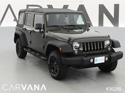 2015 Jeep Wrangler Sport Green 2015 Wrangler Unlimited with 12038 Miles for sale at Carvana