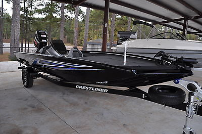 2017 Crestliner PT20 aluminum bass boat with a 200 HP Mercury ProXS OptiMax
