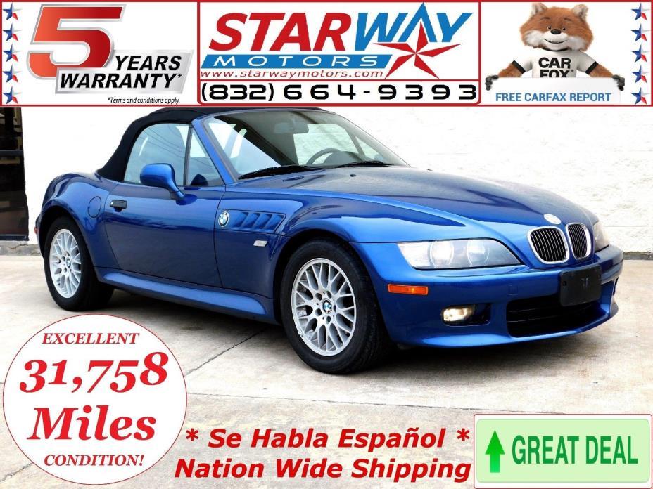 2000 BMW Z3 Z3 2000 bmw z3 2.8L - 31K Miles Only! - RARE FIND - CLEAN - CARFAX - SERVICED -LOOK