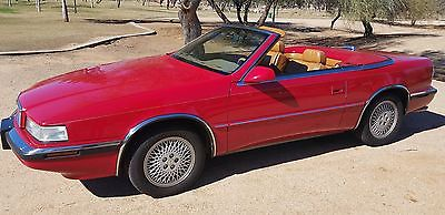 1991 Chrysler Other 2 TOP ROADSTER 1991 CHRYSLER TC MASERATI CONV. 39K ORIG MI.