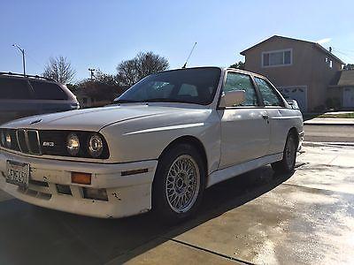 1990 BMW M3 m3 1990 BMW E30 M3 Alpine White