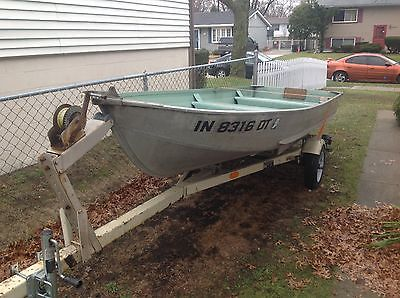 1997 14FT Sea Nymph Angler Aluminum Fishing Boat W/Trolling Motor and Trailer