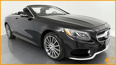 2017 Mercedes-Benz S-Class S550 Convertible | SPORT | DESIGNO | P1 | DISTRNC+ Black Mercedes-Benz S-Class with 3,295 Miles available now!
