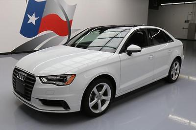 2015 Audi A3 Premium Sedan 4-Door 2015 AUDI A3 1.8T PREMIUM SUNROOF LEATHER REAR CAM 13K #139740 Texas Direct Auto