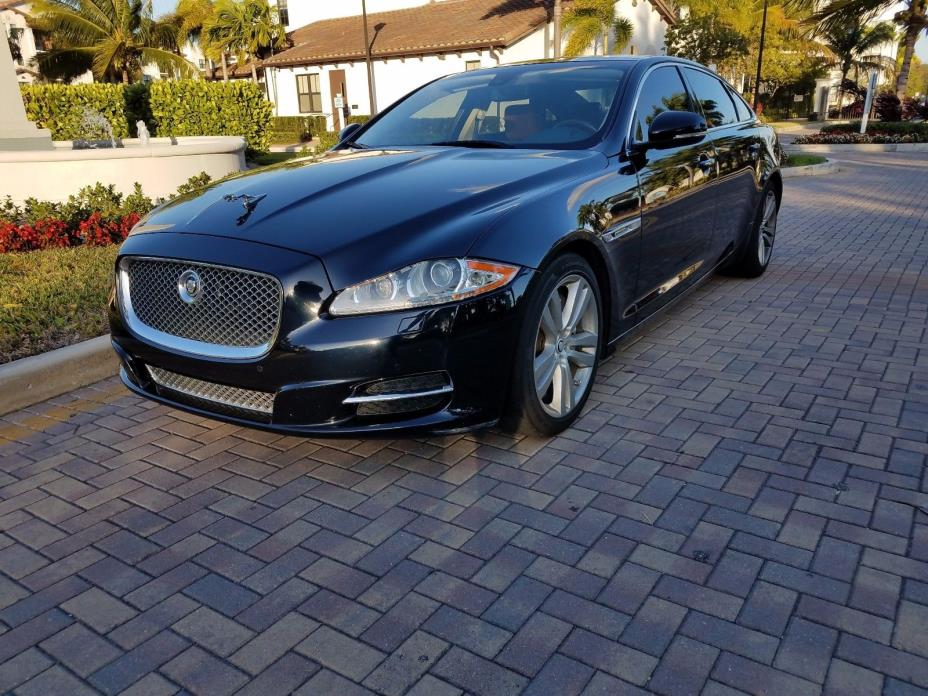 2012 Jaguar XJ L Portfolio Sedan 4-Door 2012 Jaguar XJL Portfolio 50k Miles Midnight Blue w/ CPO Warranty