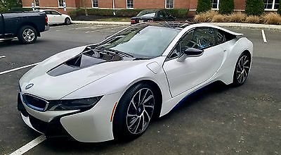 2014 BMW i8 18 BMW 2014 3576 miles 154k window sticker pure impulse Theft recovery no accidents