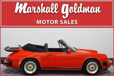 1987 Porsche 911 Carrera Convertible 2-Door 1987 Porsche 911 Cabriolet guards red/black bbs wheels only 32100 miles
