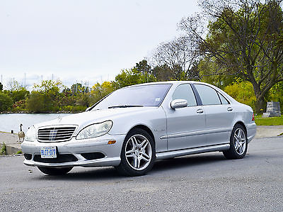 Mercedes-Benz: S-Class S55 2003 Mercedes S55 AMG Silver on Black Fully Loaded