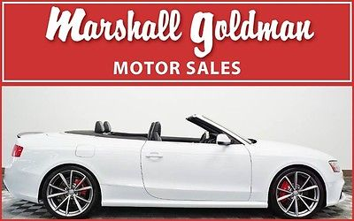2015 Audi RS5 Cabriolet Convertible 2-Door 2015 Audi RS5 Cabriolet White with Black 450HP S tronic trans only 6100 miles