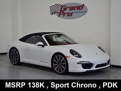 2014 Porsche 911 2014 Carrera S Cabriolet MSRP138kWarranty Sport Chrono Pkg PDK PASM Sport Exaust