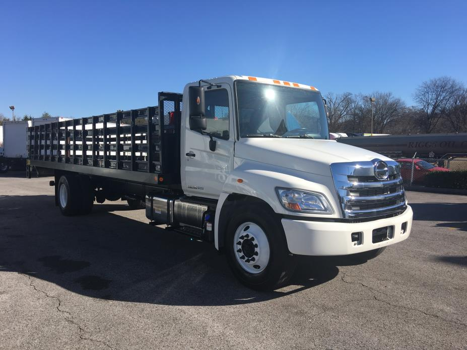 2013 Hino 268a Flatbed Truck