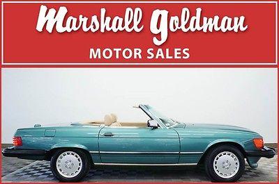 1989 Mercedes-Benz SL-Class  1989 Mercedes-Benz 560SL Blue/Green Metallic w/Creme Beige leather only 6,488 mi