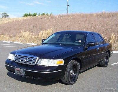 2001 Ford Crown Victoria 73k P71 POLICE INTERCEPTOR CRUISER AC 4.6L P-71 1-OWNER-CLEAN-CRUISE-CLOTH-FACTORY-ALL-BLACK-DUAL-EXHAUST-READY-TO-GO-INSPECTED