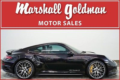 2014 Porsche 911 2014 Porsche 911 turbo S Basalt Black with Luxor Beige PDK navi only 5500 miles