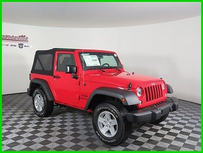 2017 Jeep Wrangler Sport 4x4 V6 Soft Top Roof 2 Door SUV Cloth Seats 2017 Jeep Wrangler 4WD SUV 8 Speakers Keyless Entry Automatic Sunrider
