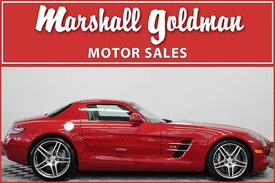 2011 Mercedes-Benz SLS AMG Base Coupe 2-Door 2011 Mercedes Benz SLS AMG Lemans Red Metallic only 704 miles Bang and Olufsen