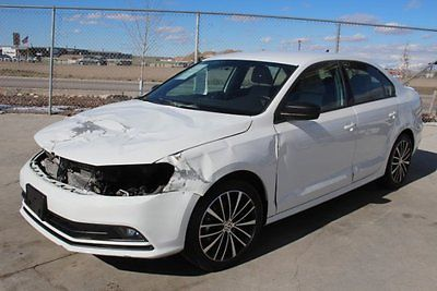2016 Volkswagen Jetta 1.8T Sport 2016 Volkswagen Jetta 1.8T Sport Damaged Salvage Only 4K Miles Perfect Project!