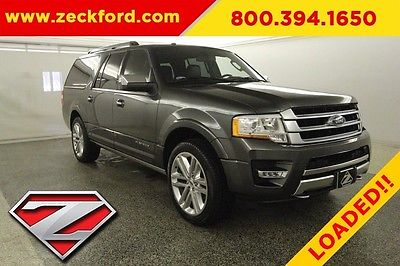 2017 Ford Expedition EL Platinum 4X4 3.5 EcoBoost 4WD Moonroof Leather Heated Cooled Navigation Bucket BLIS XM