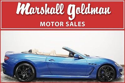2014 Maserati Gran Turismo  2014 Maserati Granturismo convert MC Blu Sofisticato Sabbia leather 4,100 miles