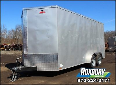 2017 Anvil 7x16 V-NOSE Enclosed Cargo Trailer 7K 5 yr warranty EXTRA HEIGHT
