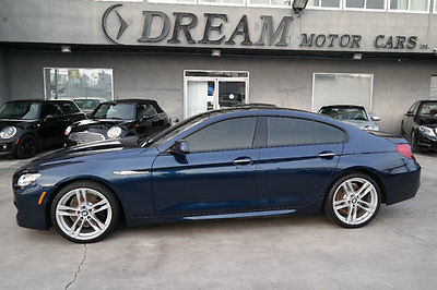 2015 BMW 6-Series 640i Gran Coupe 2015 BMW 6 Series 640i Gran Coupe 17120 Miles Deep Sea Blue Metallic Sedan 3.0L