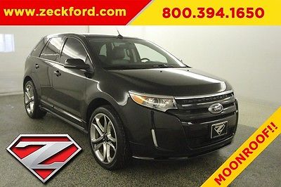 2013 Ford Edge Sport All Wheel Drive 3.7L AWD Pano Moonroof Leather Heated Seats Backup Cam BLIS Bluetooth XM