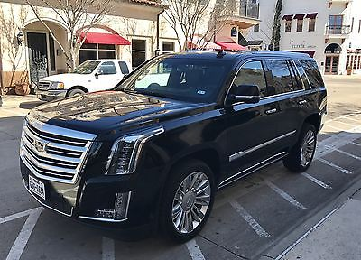 2015 Cadillac Escalade  Cadillac Escalade 2015 platinum black/black 16755 miles 1 owner clean car fax