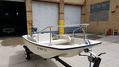 1989 BOSTON WHALER 13FT W/TRAILER  EXCELLENT! Black Bimini NEW
