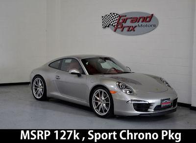 2013 Porsche 911 2013 Carrera S Coupe MSRP 127k PDK Sport Chrono Pkg PDCC w/ PASM Red Interior!