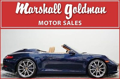 2017 Porsche 911 2017 Porsche 911 cab Night Blue with Beige PDK, 20 wheels, navi only 3400 miles