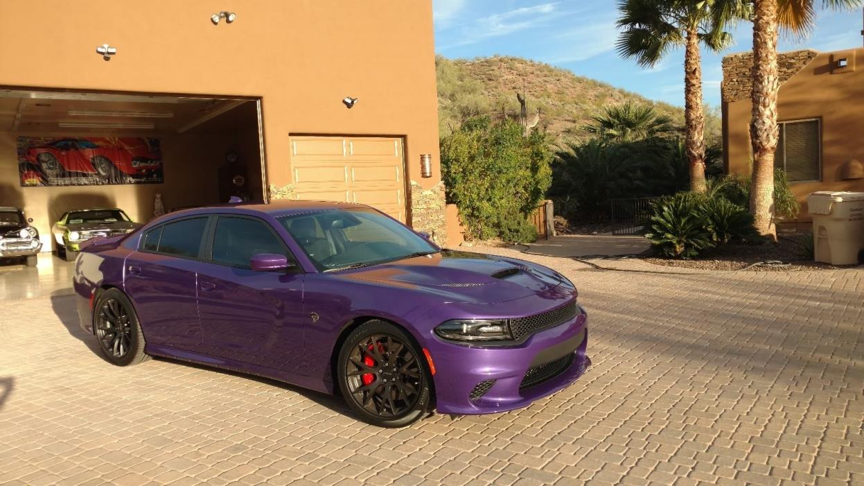 2016 Dodge Charger mint 2016 dodge charger srt hellcat purple, 800 miles, like new, only 250 made