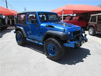 2016 Jeep Wrangler Sport 2016 Jeep Wrangler Sport 20 Miles Hydro Blue Pearlcoat Convertible V6 Cylinder E
