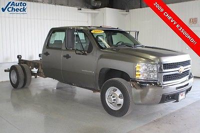 2009 Chevrolet Silverado 3500 Work Truck Used 09 Chevy K3500HD Crew Cab 4x4 DRW Chassis Cab 6.0L V-8 Engine Work Truck