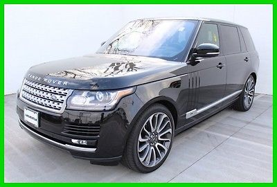2016 Land Rover Range Rover Supercharged 2016 Supercharged Used 5L V8 32V Automatic 4WD SUV Premium