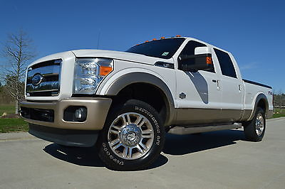 2012 Ford F-250 King Ranch 2012 Ford F-250 Crew Cab King Ranch FX4 Diesel Sunroof Cover Navigation Clean