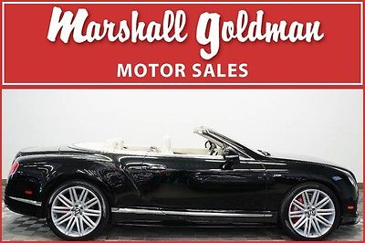 2015 Bentley Continental GT 2015 Bentley GTC Speed Beluga black with linen 21 inch wheels only 1400 miles