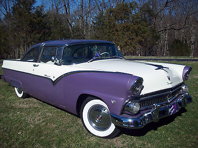 1955 Ford Crown Victoria Two Door Coupe 1955 Ford Crown Victoria Beautifully Restored - Lavender and Vanilla