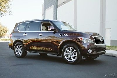 2012 Infiniti QX56 QX56 EXQUISITE THEATER 2 OWNER FLORIDA QX56 EXQUISITE THEATER 2 OWNER FLORIDA DARK CURRANT AND WHEAT