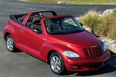 2005 Chrysler PT Cruiser CARFAX CERTIFIED TOURING TURBO CONVERTIBLE!! 57,148 MILES INFERNO RED AUTOMATIC~CHROME WHEELS~CD~LOADED~FUN! 06 07 08