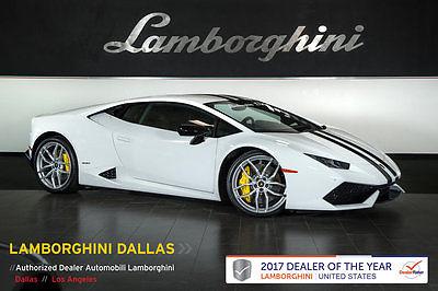 2015 Lamborghini Huracan LP610-4 Coupe 2-Door FACTORY CERTIFIED!+DYNAMIC STEERING+FACTORY RACE  EXHAUST+NAVIGATION+STRIPE KIT