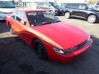 1991 Nissan 240SX SILVIA 1991 Nissan Silvia Coupe Red Aero Skirts JDM RHD S13 240sx HIGH AUCTION GRADE