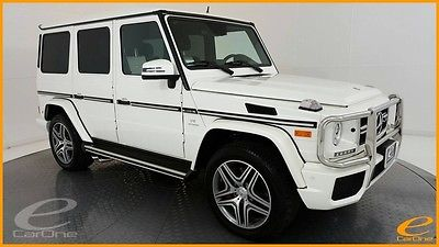2015 Mercedes-Benz G-Class G63 AMG | DISTRNC+ | DESIGNO DIAMOND STITCHED LTHR Designo Mystic White Mercedes-Benz G-Class with 15,461 Miles available now!